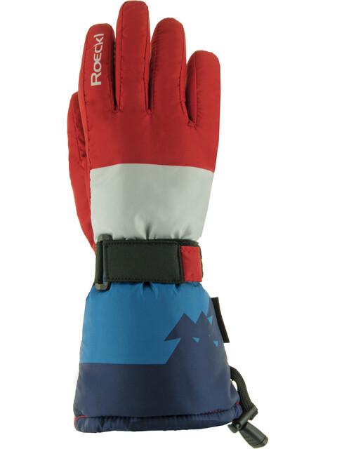 Roeckl Arlberg Lapset Käsineet , punainen/sininen